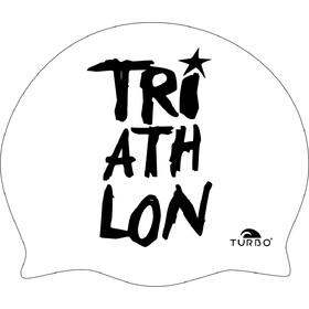 Turbo Triathlon Czepek pływacki, white/black